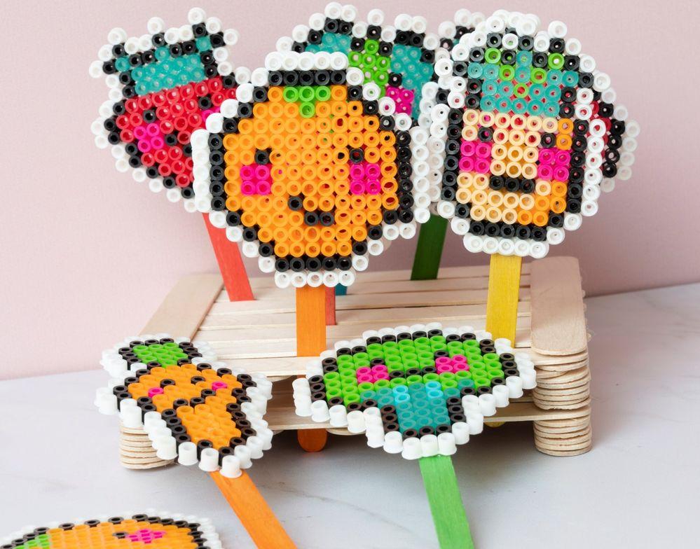 9. Votre palette est prête pour jouer au marchand de fruits et légumes.