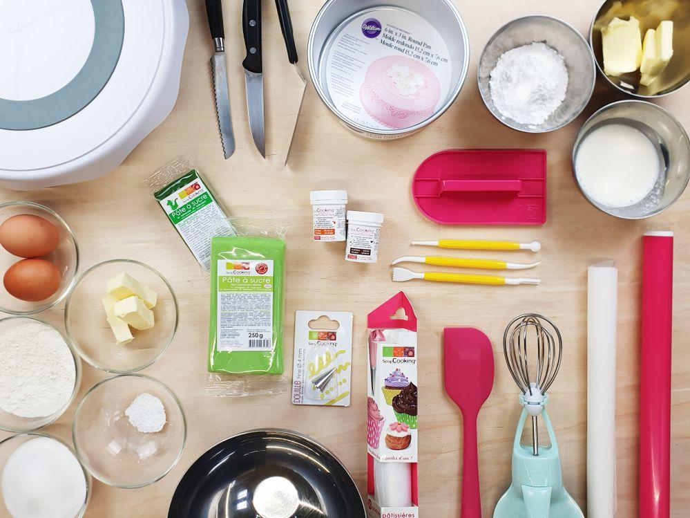 1. Peser tous les ingrédients. Et préchauffer votre four à 180°. 