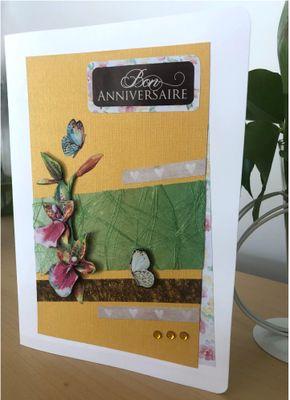 """Carte réalisée pour 2 défis """"carte anniversaire"""" et """"suivre un sketch"""" proposé par @AtelierMontauba"""