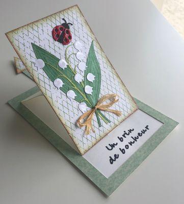"""Carte réalisée pour un défi """"carte ptites bébêtes de printemps"""" proposé par @AtelierMontauba"""