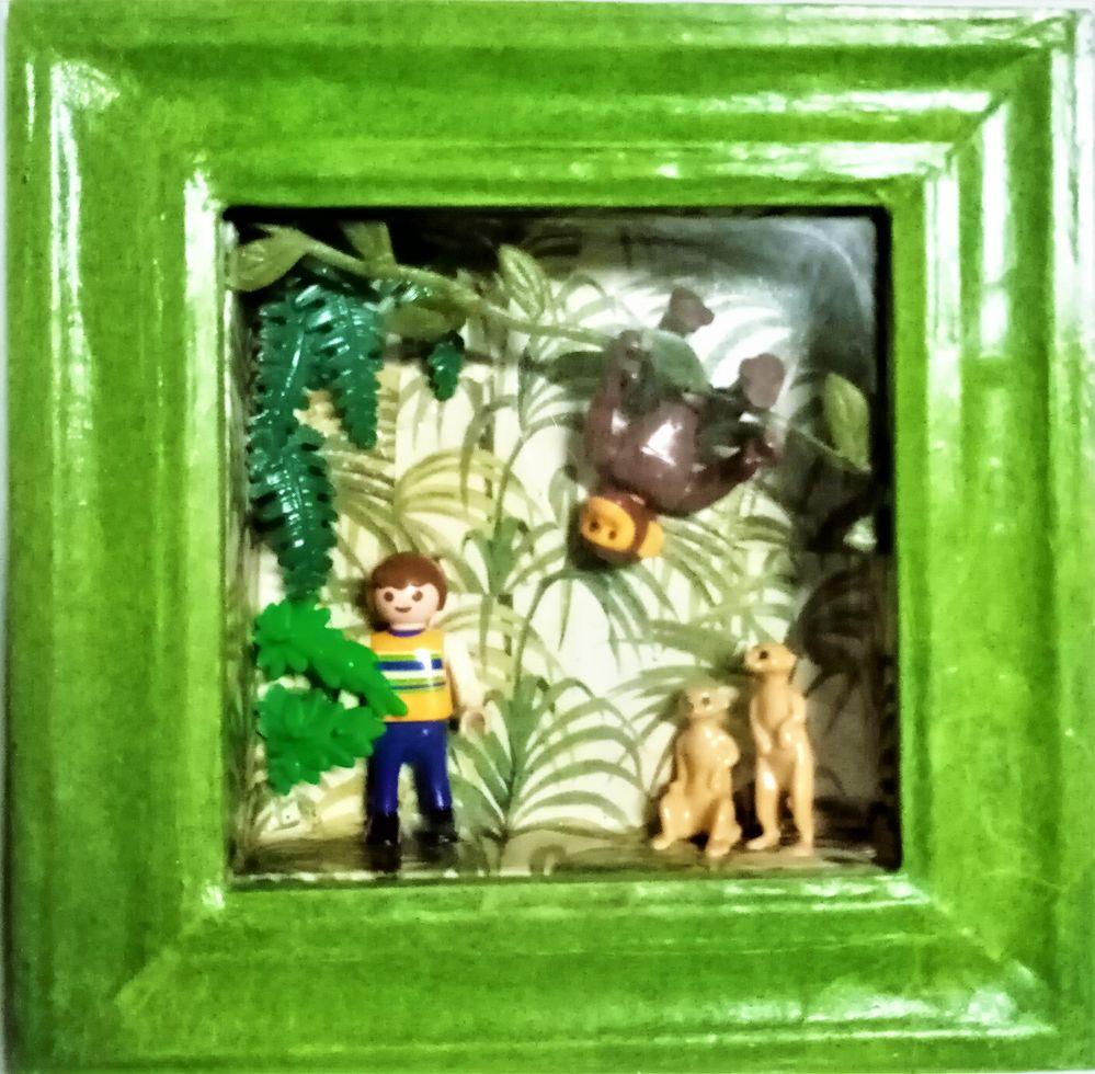 Cadre Playmobil lémuriens