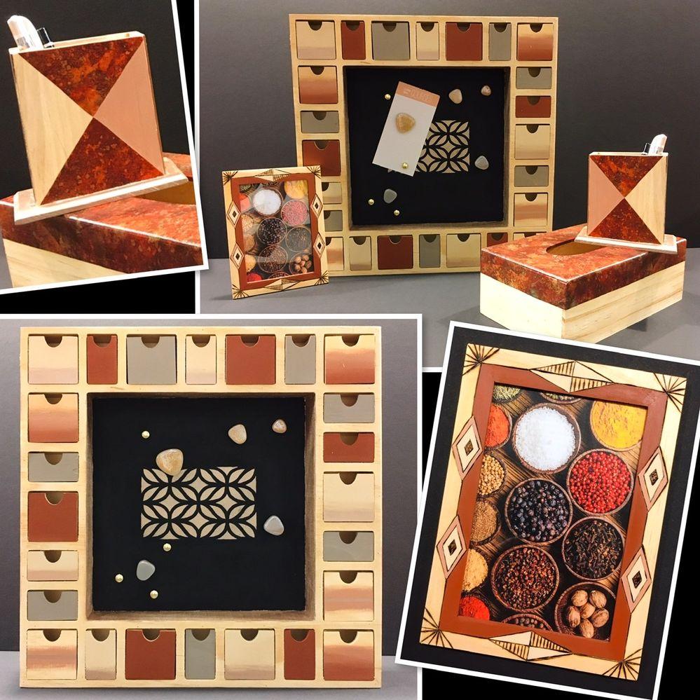 Peinture/Collage Décopatch/Pyrogravure