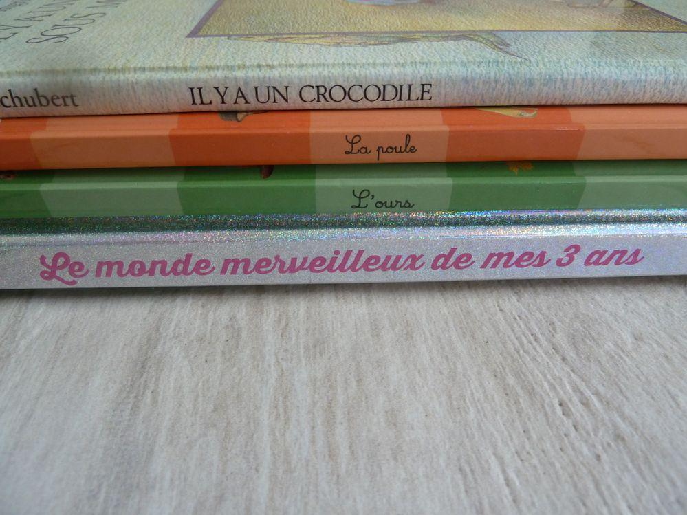 voici mon texte : il y a 1 crocodile , la poule , l'ours ,: le monde merveilleux de mes 3 ans.