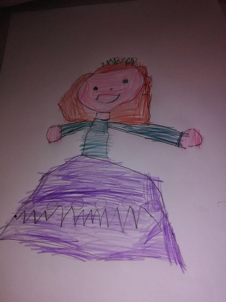 dessin dirigé Princesse
