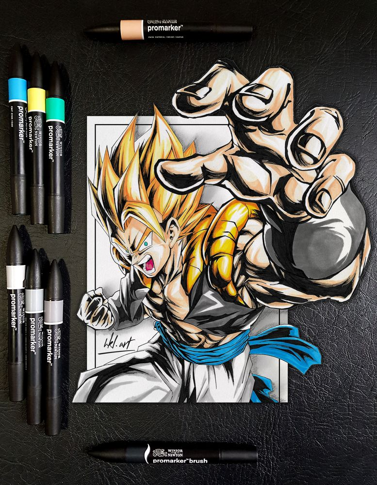 Gogeta Super Saiyajin - Dragon Ball Super Film Broly réalisé par HKL.art