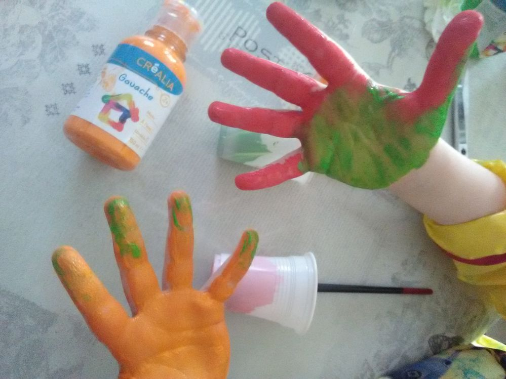 transformation des mains...