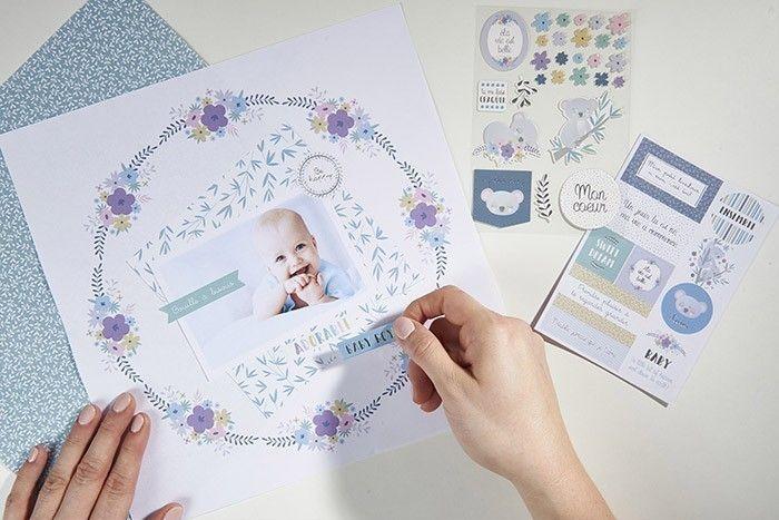 ETAPE 5/6 Astuce : le bloc de papier 30 x 30 cm vous propose des visuels à encadrer pour décorer la chambre de votre enfant ou réaliser des albums de scrapbooking.