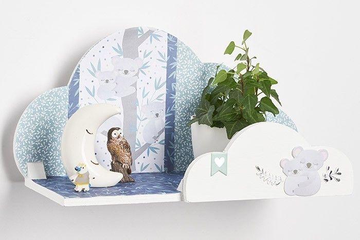 ETAPE 6/6 L'étagère nuage est prête pour décorer la chambre de votre enfant