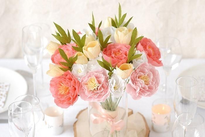 Diy Bouquet De Fleurs En Papier Crepon Culturacreas