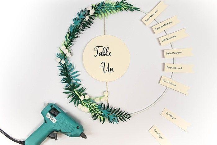 ETAPE 12/13 Créez votre plan de table et collez les noms d'invité où vous le désirez !