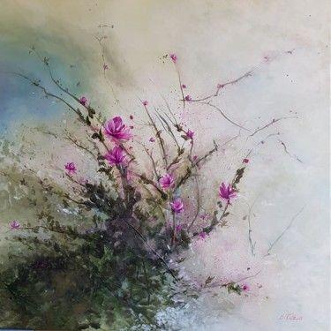 """""""Magnolias"""" (acrylique sur toile"""