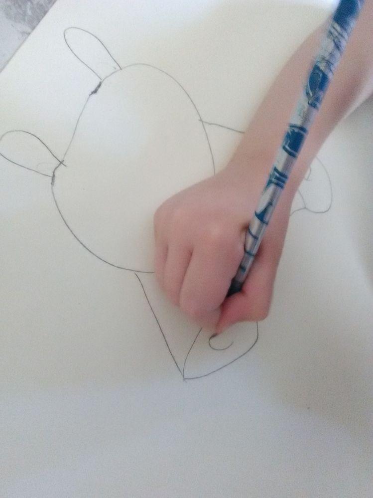 au crayon à papier, je m'applique